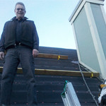 Nick Welle - Owner - Colorado Continental Roofing and Solar in Denver CO - up inspecting a roof.