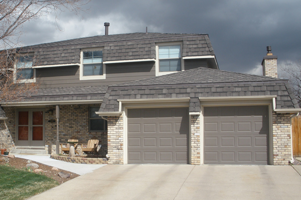 A new roof on a residential house in Lakewood CO by Colorado Contintental